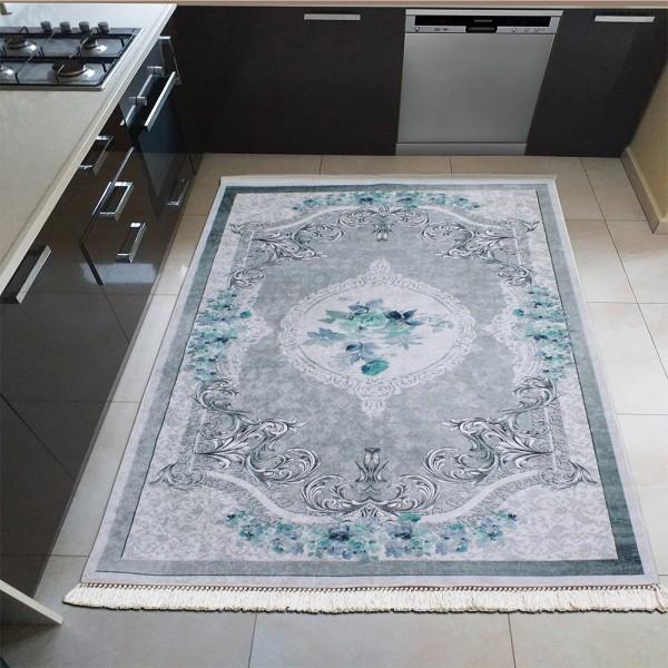 Mutfak Dinarsu Sunshine Yıkanabilir Serisi Mavi Beyaz Gri