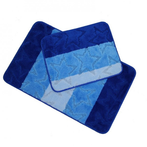 Banyo Halı Seti 2-li Mavi Set Paspas